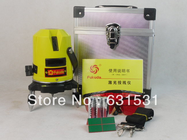 Fukuda 5 lines 1 point Cross line laser,rotary laser level, Horizontal and Vertical laser line level laser cast line instrument marking device 5 lines the laser level