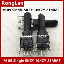 [בלה] מקורי M 09 אחת פוטנציומטר 5KZY 10KZY אנכי ציר 21FMM  10PCS/הרבה