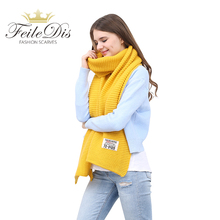 [FEILEDIS]women winter scarves and wraps red cashmere knitted scarf for women large big scarf FD197