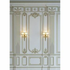 Image 2 - Фон для фотосъемки Allenjoy, роскошная мраморная стена, Европейский барочный декор, классический фон, фотореквизит