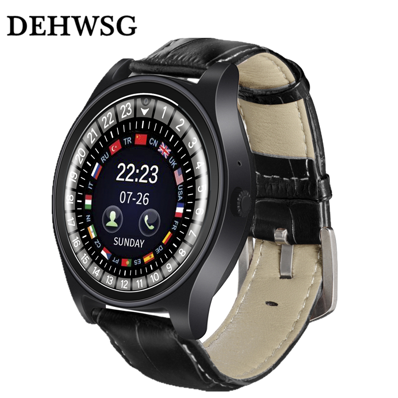 New Smart Watch Y1 Pro Leather Band Bluetooth Watch Invicta Men Women business Watch SIM TF Card Support For Apple Samsung phone zeus watch