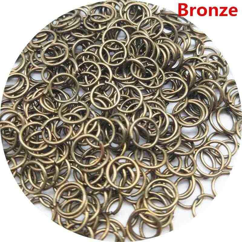 200/100pcs/lot 3/4/6/8mm New Cheap Beads Jewelry Findings Hot Open Jump Split Rings Connector for DIY Jewelry Findings Making
