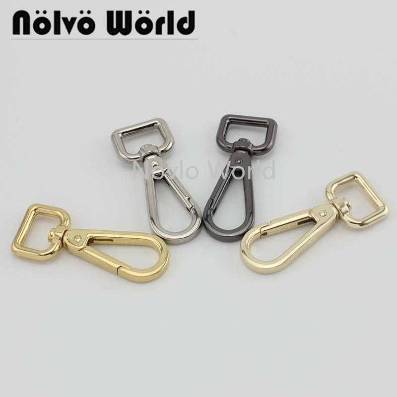 Wholesale 500pcs, 5 Colors Accept Mix Color, 61*16mm Metal Trigger Snap Hook Handbag Purse Adjusted Swivel Clasp Hooks Hardware
