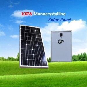Солнечная панель Китай 100 Вт монокристаллический кремний 18 в 1196x541x30 мм размер высокое качество китайская солнечная батарея