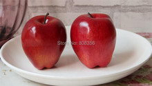 Realistic Artificial Red Apples For Decoration