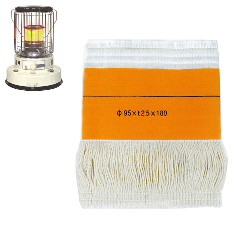 2017Best Selling 95*t2.5*180mm Kerosene Stove Wicks High Quality Glass Fiber + 100%Cotton Heaters Wick