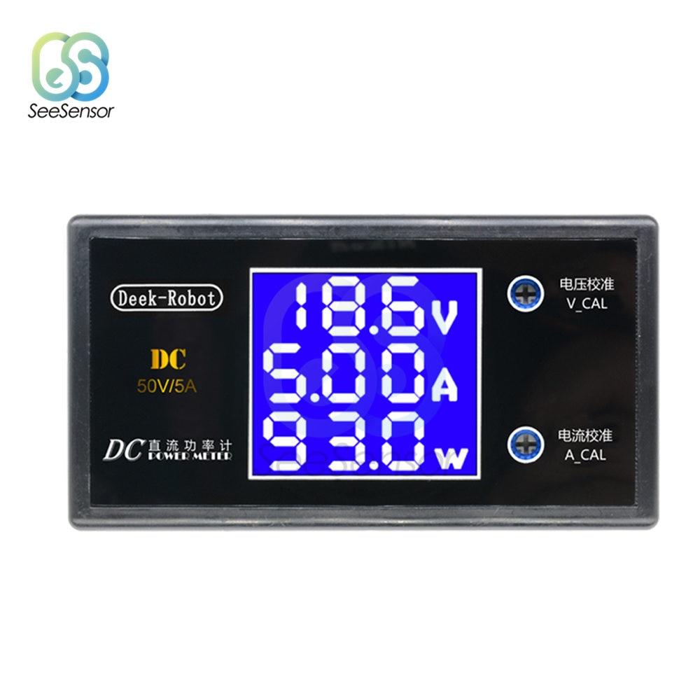 DC 50V 100V 5A 10A Digital Voltmeter Ammeter Wattmeter Power Current Voltage Meter 250W 1000W High Power Volt Detector Tester in Current Meters from Tools