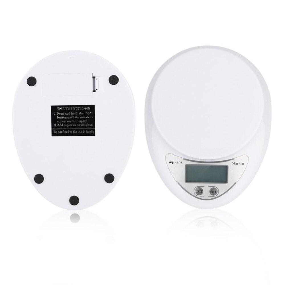 Envío de la gota 5 kg balanza Digital dieta de la cocina Postal escalas del peso de balance Escala electrónica LED