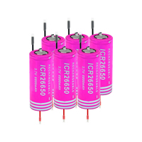 HIGH DRAIN 6/8/10 Pcs 3.7v 6800mah Li ion Battery High Drain 20a 26650 Lithium Battery Rechargeable For LED light