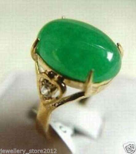 ร้อนขายรูปแบบใหม่>>>>สีเขียวหินขนาดแหวนผู้หญิง's 6 7 8 9 #