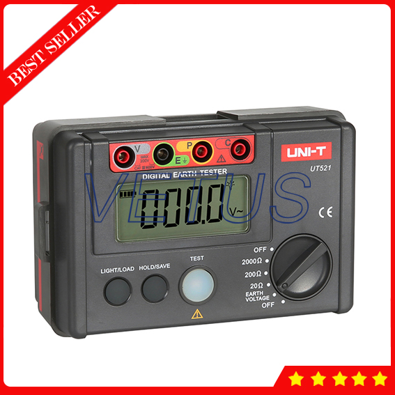 UNI-T UT521 2000ohm LCD Digital Ground Resistance Tester