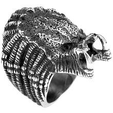Punk Vintage depredador alienígena dedo para Hombres estilo gótico anillo de película de acero inoxidable joyería estilo gótico película Punk Biker anillo