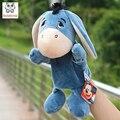 Младенческая Дети Стороны Марионеточных милый синий осел с ног дети ребенок плюшевые Мягкие Игрушки Куклы игрушки Рождество подарок на день рождения