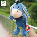 Infant Children Hand Puppet cute blue donkey with foot kids baby plush Stuffed Toy Puppets toys Christmas birthday gift