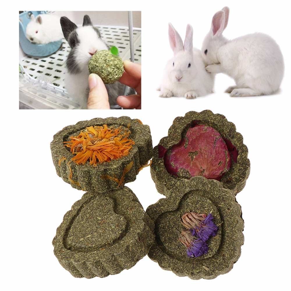 2pcs Small font b Pets b font Hamster Grinding Teeth Cake Cookie Animals Rabbit Chinchilla Guniea