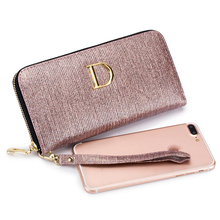 Luxury Brand Long Women Wallet Female Genuine Leather Bling