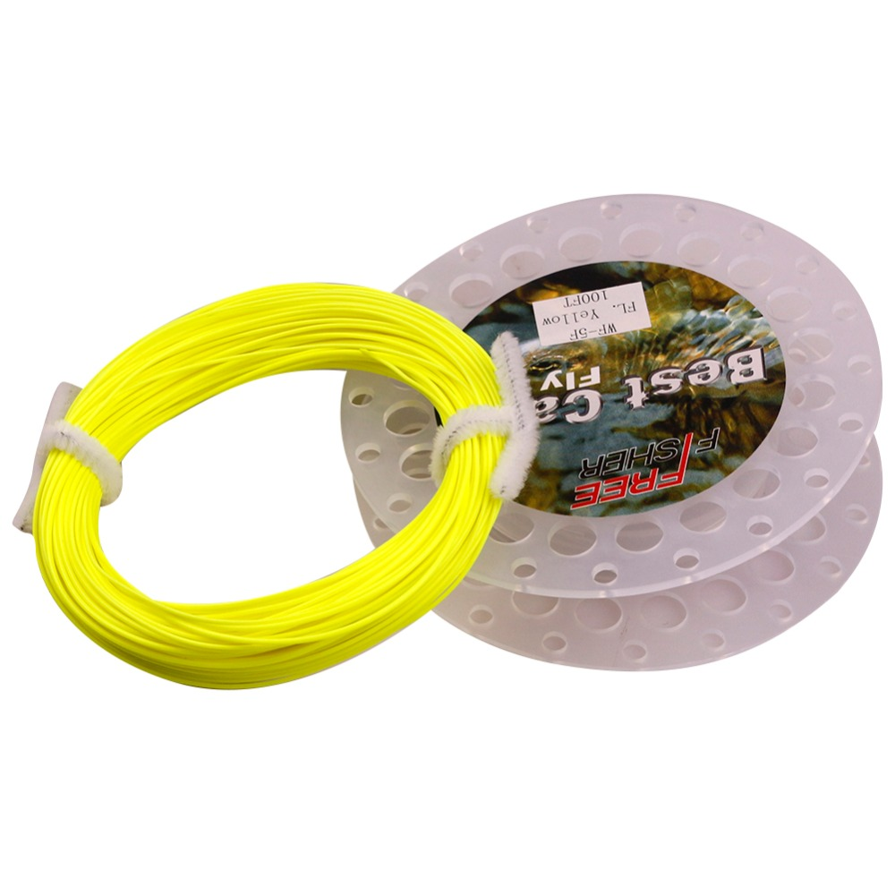 FreeFisher Yellow Fly Fishing Line Main Own Floating Weight Forward - Fishing