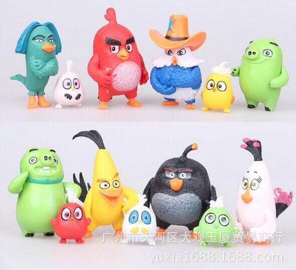 12pcs/set 5cm Lovely Birds Miniature Cartoon Action Figure Car Accessories Micro landscape Garden <font><b>Home</b></font> <font><b>Decoration</b></font>