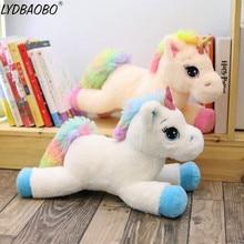 LYDBAOBO 1PC 60CM Lovely Colour Unicorn Plush Doll Good Quality Kid Play Toy Cute Doll Toy Children Girl Birthday Christmas Gift
