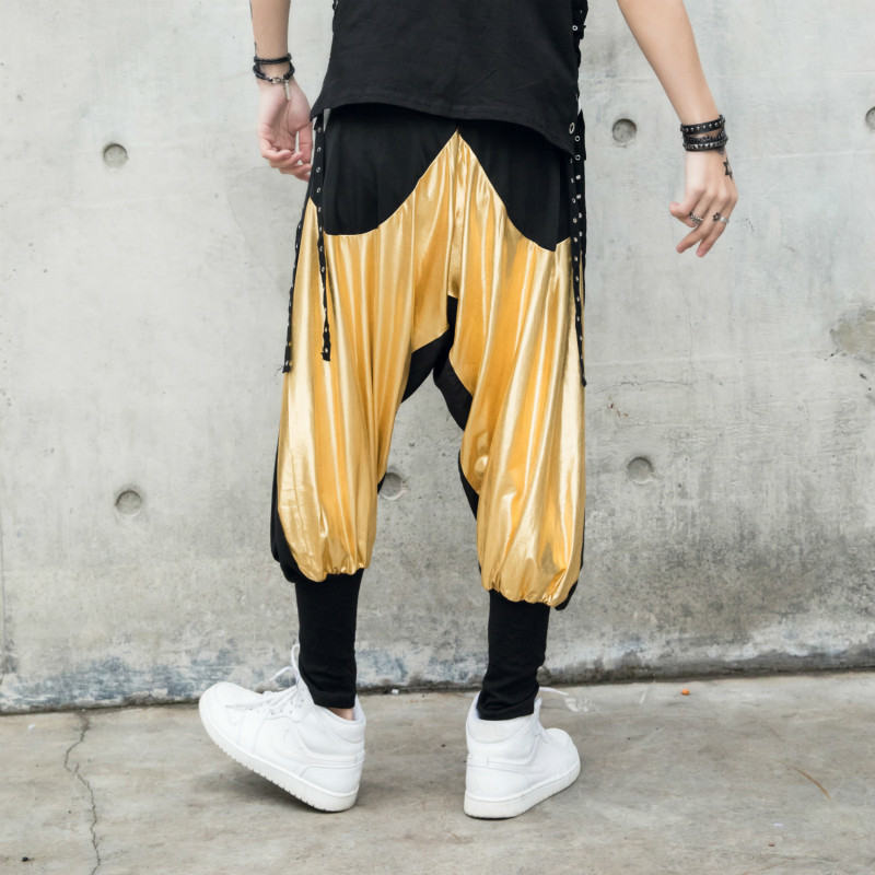 2018 New Hip hop Show Haren Pants joggers hip hop pantalon hombre homme streetwear calca masculina Free shipping Fashion Best in Cross Pants from Men 39 s Clothing