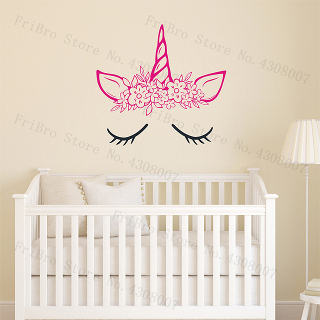 Unicorn Wall Sticker Vinyl Art Home Decor For S Room Decal Nursery Cartoon Design Removable Wallpaper