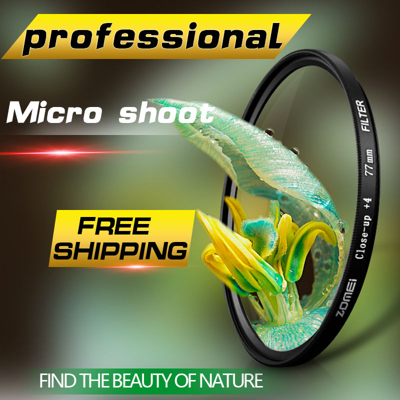 ZOMEI 52 58 62 82MM macro close up filter for for Canon 700D 650D 600D 760D 750D 1200D 1100D 100D 70D Rebel T5i T4i 58mm Lens