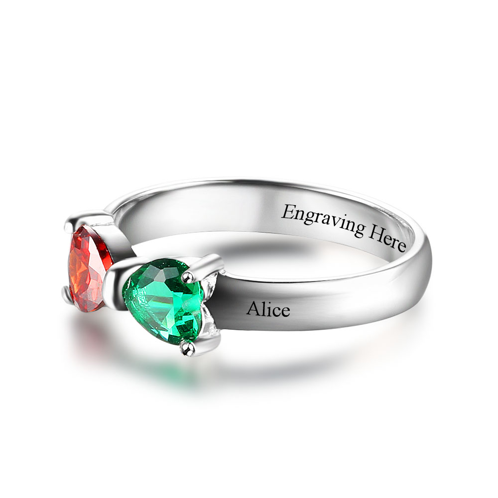 Aliexpress.com : Buy Promise Rings Personalized Jewelry Engrave ...
