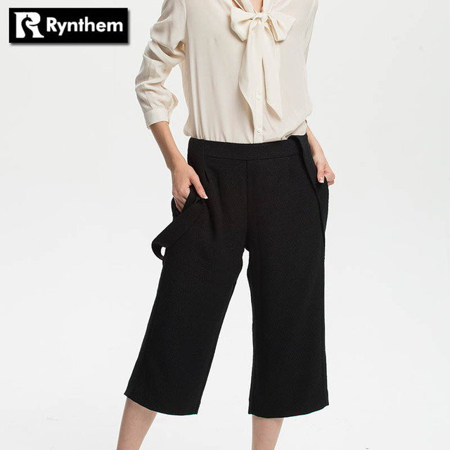 Rynthem Fashion Straight Casual Jumpsuit High Waist Wide Leg Pants