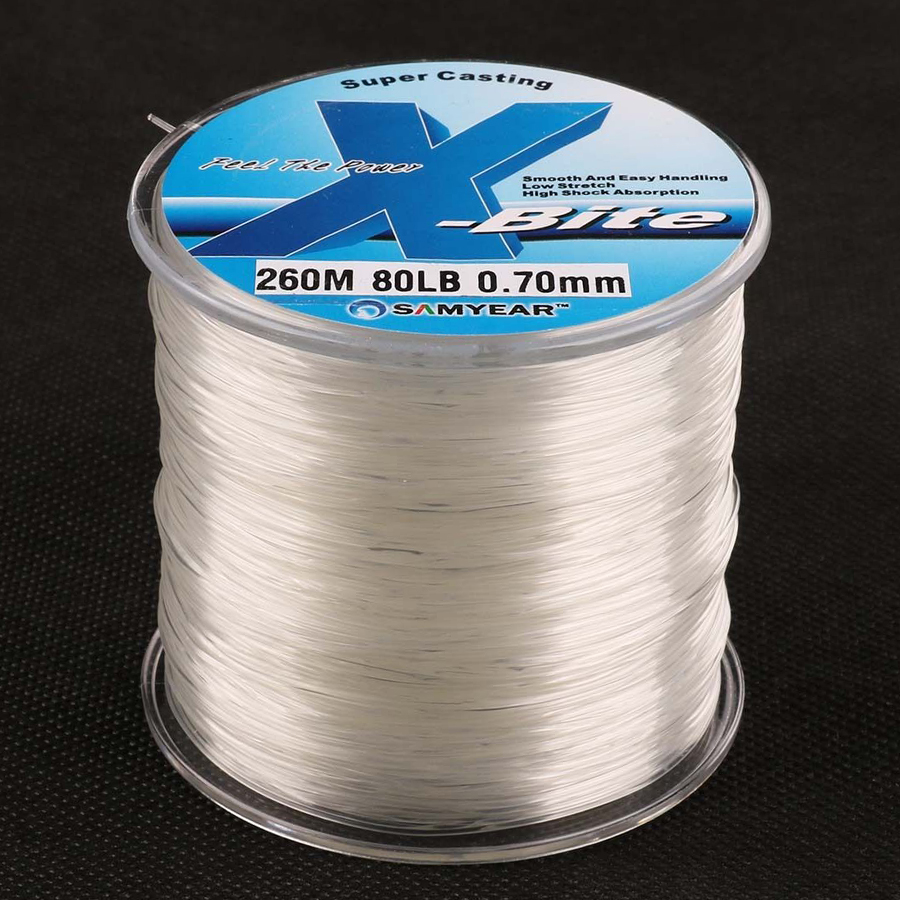 Free Shipping 260m 80lb High Quality Monofilament Nylon fishing Line Wire Material from Japan Super Strong Jig Carp Fishline катушка автоматическая karcher cr7 220 2 645 218 0