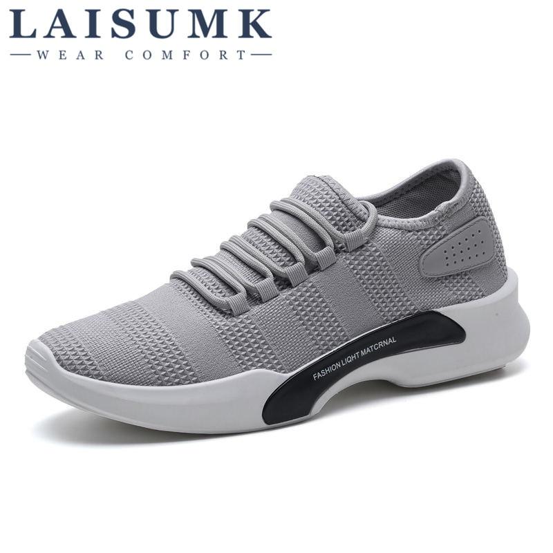 De Homme D'été blanc Sport Printemps Nouveau Respirant Air Laisumk Coréenne Mesh Cher 2019 Hommes gris Noir Chaussure Pas Chaussures Rxw1XPn