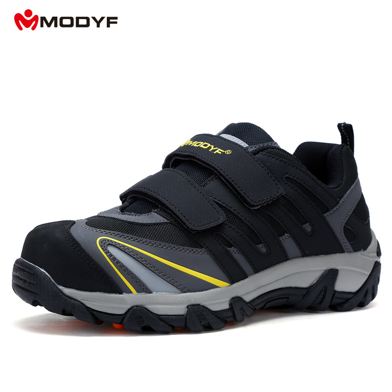 MODYF Labour Work Shoes Steel Toe Cap Anti-smashing Security Protection Workplace Safety Shoe Boots Cusual Sneakers