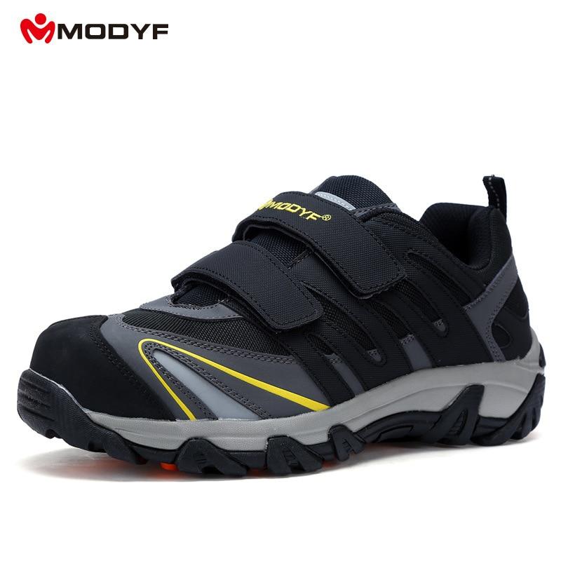 Modyf 노동 작업 신발 강철 발가락 모자 anti smashing 보안 보호 직장 안전 신발 부츠 cusual 스 니 커 즈-에서작업 & 안전 부츠부터 신발 의  그룹 1