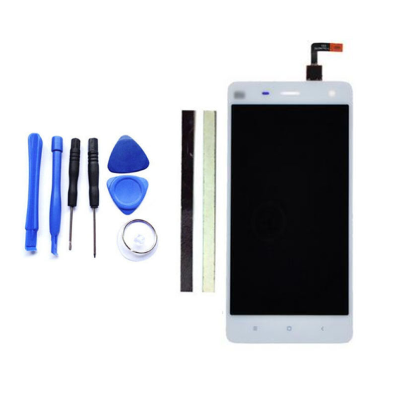 For Xiaomi 4 M4 Mi4 LCD Display + Digitizer Touch Screen Replacement For Xiaomi 4 Cell Phone Parts White + Tool