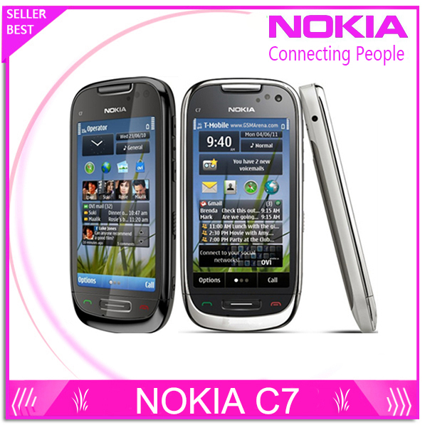 C7 00 Original Nokia C7 3G Wifi A GPS Java 8MP camera Unlocked mobile phone 8GB