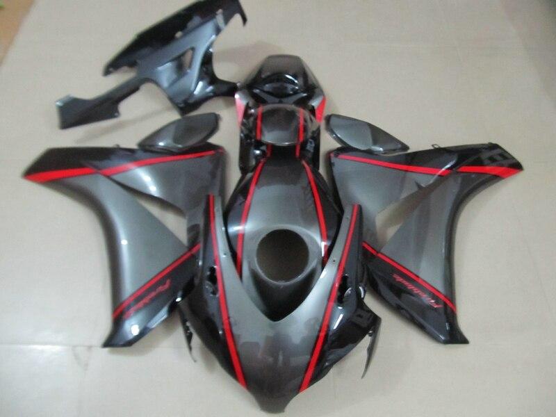 Injection moule top vente carénages pour Honda CBR1000RR 08 09 10 11 argent carénage kit CBR 1000RR 2008-2011 HY06