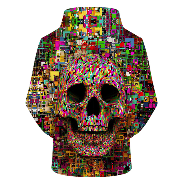Pixel skull Hoodies 3D Hoodie Men Women Hoody Harajuku Sweatshirt Streatwear Band Tracksuit Pullover Coat Hooded Collection Drop 1