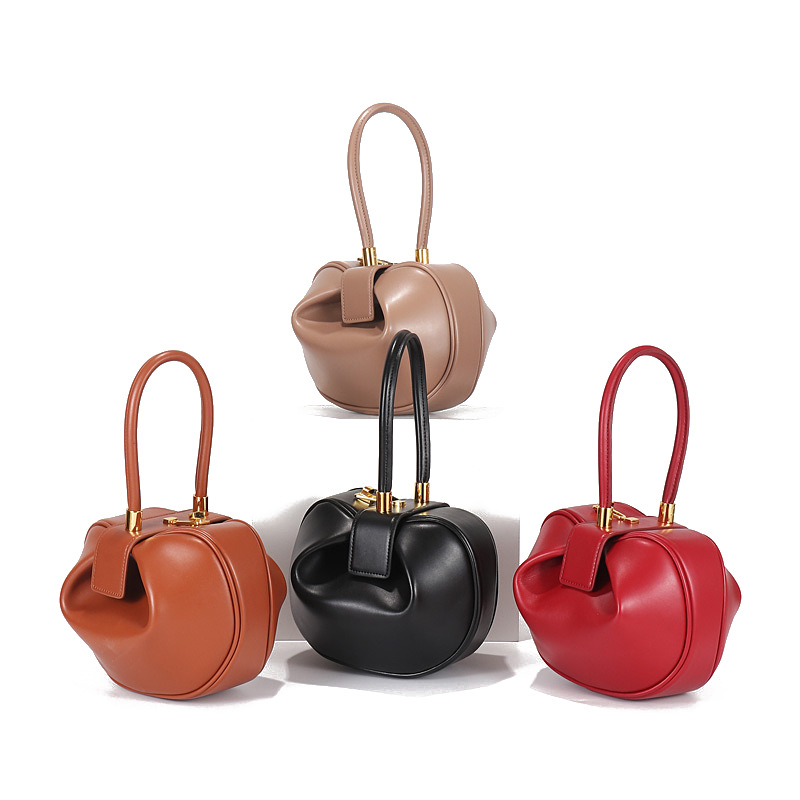 2019 New to Fashion Genuine Leather Women's Handbag High Quality Round Ball Bag