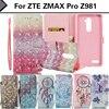 EiiMoo Phone Case For ZTE ZMAX PRO Z981 Case 6.0 Cartoon Diamond PU Wallet Flip Leather Cover For ZTE ZMAX PRO Z981 Case Z 981