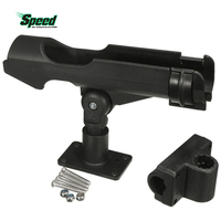 New Fishing Tackle Accessory Tool 360 Degrees Rotatable Rod Holder Bracket With Screws For Boat Assault