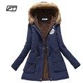 Novo inverno casacos militares mulheres jaqueta com capuz de algodão amassado colcha de espessura parka de médio-longo ocasional plus size XXXL neve outwear