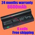 JIGU NEW 4400mAh 6cells Laptop battery for Asus AL23-901 AP23-901 Eee PC 1000 Eee PC 901 Eee PC 904HD free shipping