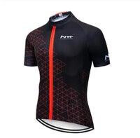 2019 NW Preto Amarelo Ciclismo Top Jersey Bicicleta homens Verão Bicicleta Roupas Maillot Ciclismo Quick secagem|Kits ciclismo| |  -