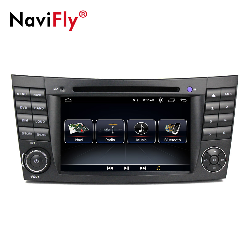 Navifly android8.1 lecteur multimédia De Voiture Autoradio pour Mercedes Benz E-Classe W211 E200 E220 E240 E270 E280 2002-2008 w219