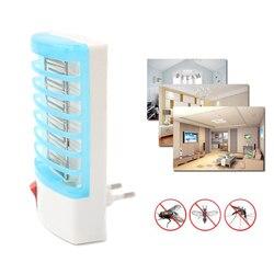 220 V UE EE. UU. Enchufe electrónico Mosquito Killer lampara Anti Mosquito repelente mosca mata insectos Zapper hogar trampa de Mosquitos