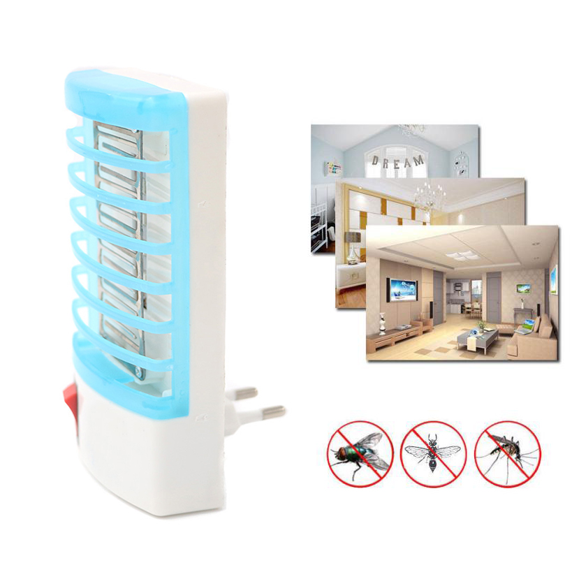 Bug Zapper Electronic Mosquito Killer Lamp LED UV Light Insect Trap Plug-In USA