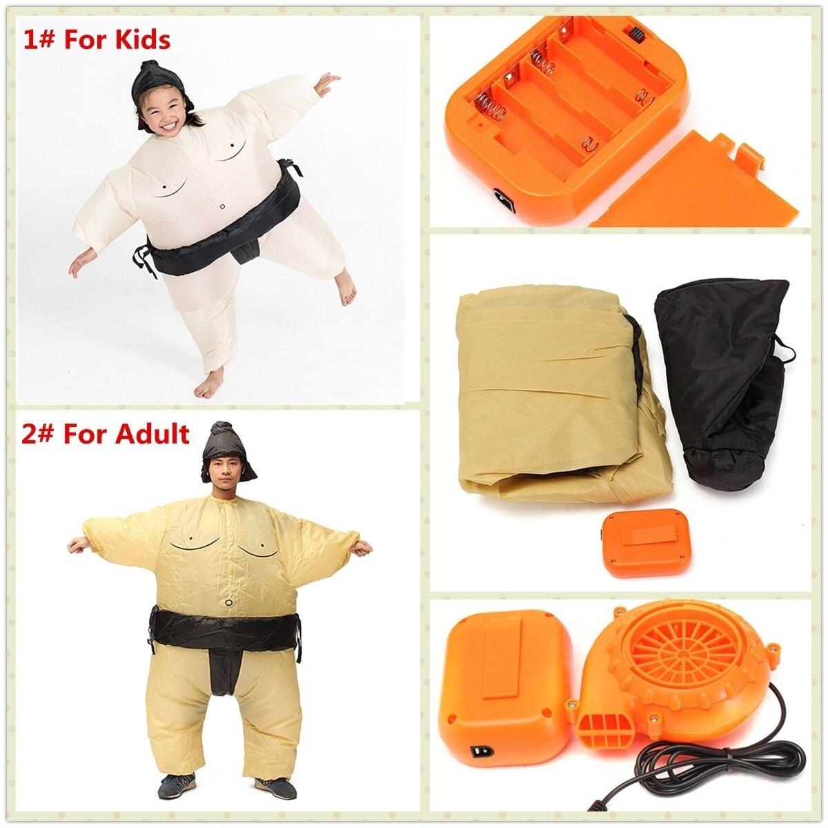 Blague Jouet Sumo Gonflable Vêtements Unisexe Adulte Enfants Parent-enfant Soutiens Jouets Drôle Big Fat Clotheslay