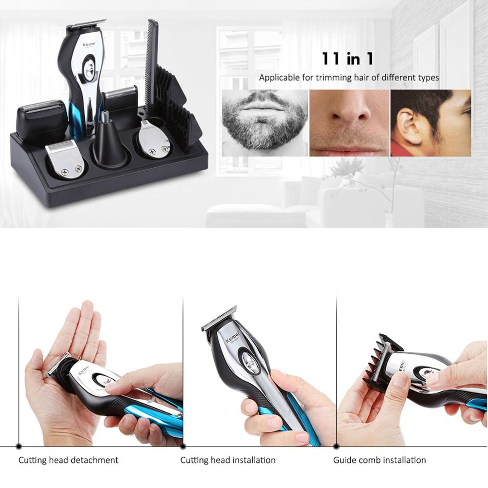 Kemei hair trimmer 11In1 professional electric hair cutting machine Clipper shaving hair clipper trimmer beard rechargeable 5