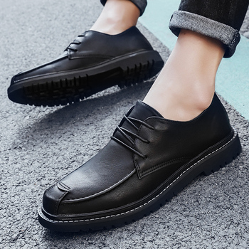 Men Black Dress Shoes  Autumn Leather Shoes Genuine Leather Bussiness Formal Shoes Wedding Footwear Luxury Brand