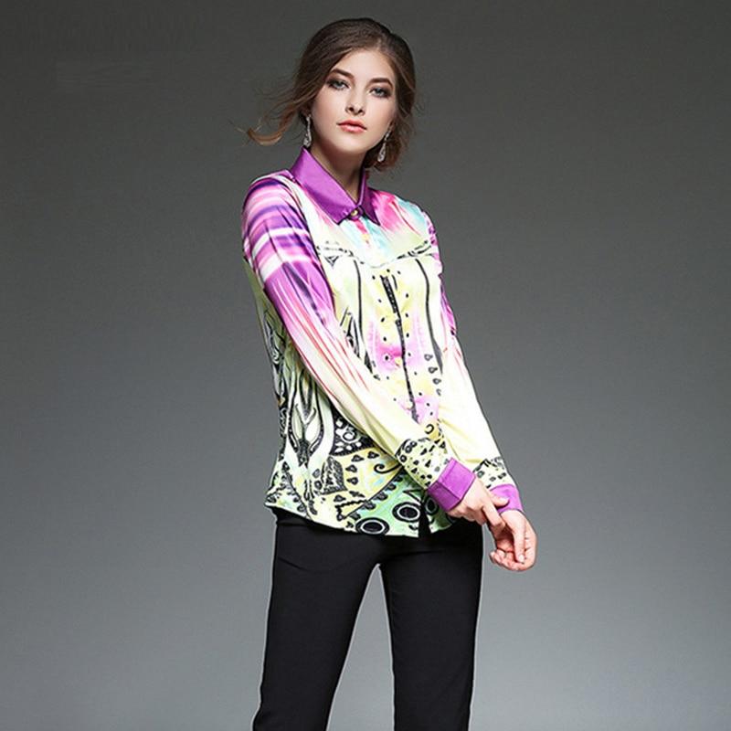 Picture Oficina Señora De Tamaño Europa Feminina 2018 Calidad Más Vintage Mujeres Camiseta Uniforme Wear Basics Blusa Elegante Impresión Alta vUwEqpC