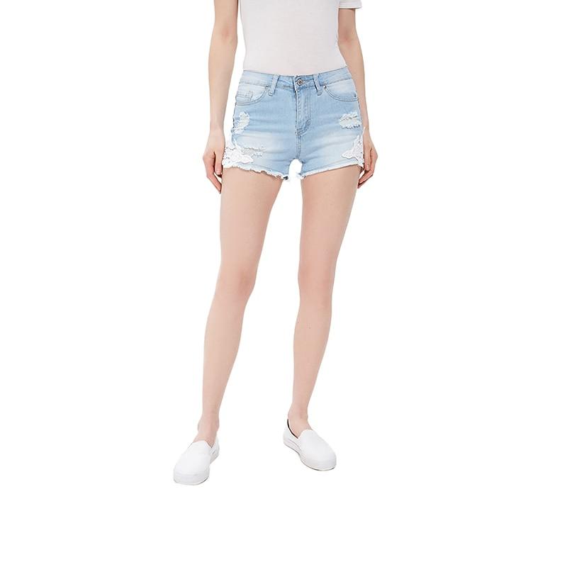 Shorts MODIS M181D00241 women cotton for female TmallFS shorts gloria jeans for female gsh003789 tmallfs denim shorts women clothes